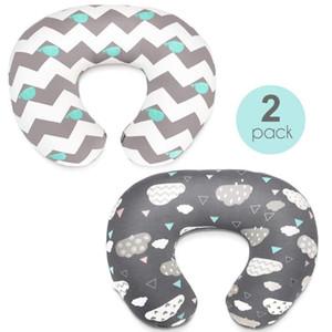 Stretchy Nursing Pillow Covers-2 Pack Nursing Pillow Slipcovers for Breastfeeding Moms Ultra Soft Snug Fits On Infant Nursing Pillo