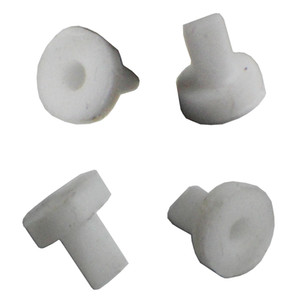 10 Piezas Mini Válvula de silicona blanca de pico de pato sellado unidireccional válvula de retención 5 * 2 * 5.2mm líquido y gas de reflujo Prevenir
