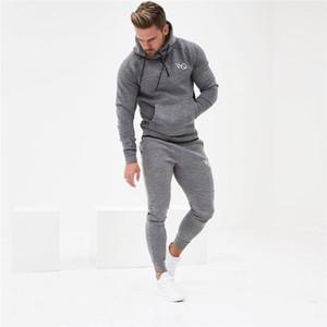 KORKSLORES 2019 sonbahar Spor Salonları erkek Takımları Moda Spor Eşofman Takımları erkek GYMS slim fit Hoodies + Pantolon casual Dış Giyim Suits
