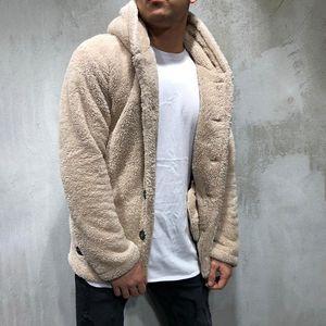 Maglione Caldo Maglione con cappuccio del rivestimento del cappotto di lusso degli uomini di CYSINCOS autunno inverno casuale allentato su due lati della peluche Top chaqueta hombre