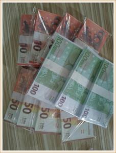 New 10 20 50 100 Euro argent de faux billette argent Film euro faux billet 20 jeu Collection et cadeaux 71