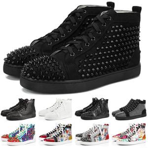 christian louboutin designer luxury Brand ACE Tasarımcı Rahat Ayakkabılar Erkekler Kadınlar Için Çivili Sneakers Kırmızı Alt Parti Severler Hakiki Deri Moda Sneaker Boyutu 5.5-12