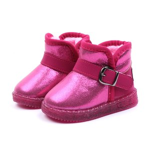 Australia High Quality Classic Baby Light Up Snow Boots Australia Classic Style Leather Waterproof Winter Cotton boots Warm Boots
