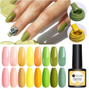 UR ŞEKER UV Jel Tırnak Polonya Yeşil Sarı Renk Jel Soak Off UV Jel Vernik Renk Çiviler Lehçe DIY Nail Art Laklar