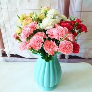 10 heads Artificial carnation bouquet Korean emulation bouquet bride holding bouquet Mother plot gift Wedding decoration flower T9I00379