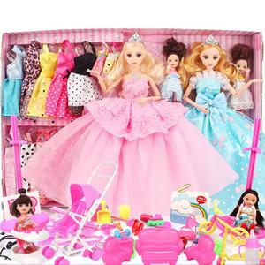 Fashionista ultime Dressup Poupées Coffret Cadeau Toy Mode Princesse Joint Poupées Accessoires pour les filles Bricolage