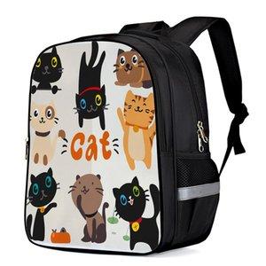 Desenhos animados do gato preto bonito Pet Interno mochilas estrutura Notebook Backpack Outdoor Backpack Caminhadas Daypacks Mochila Bag Crianças SATC