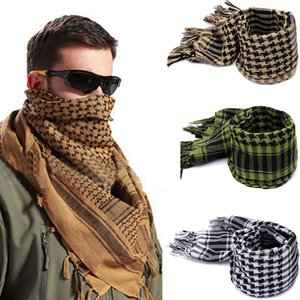 Fashion Mens Lightweight Square Outdoor Shawl Arab Tactical Desert Army Shemagh KeffIyeh Arafat Scarf Fashion