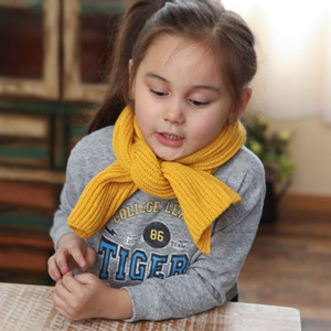 Children's Winter Scarf Baby Warm Knitted Wool Scarf Adult Autumn and Winter Solid Color