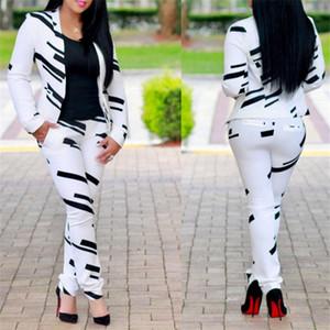 Ceket ve pantolon Kariyer Güzellik Yeni Moda Pantolon Seti İçin Bayanlar ile Kadınlar Kariyer Suit Sonbahar kış resmi Profesyonel Çalışma Wear Takım elbise