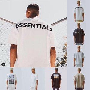 FFOG 19SS رجل T-shirt FEAR OFF GOD ESSENTIALS يشبه الصندوق PHOTO كبير جدا فضفاض تيز الرجال النساء عالية الجودة القطن تي شيرت