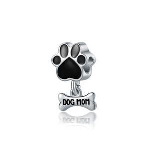 Summer Beach Dog Paw Bone Charms браслет Приступы для Pandora Style Подвески Браслеты для Матери День подарков Бесплатная доставка