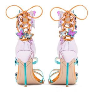 Hot Sale-Designers Sandalen Sophia Webster Schuhe Knöchelriemen-reizvolle Stilett Ferse Braut Sandelholz-Dame Gladiators