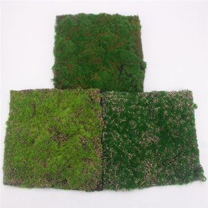 Simulazione Moss Turf Lawn Wall Green Fake Plant DIY Artificial Grass Board Matrimonio Home Hotel Sfondo Shop Window Decoration