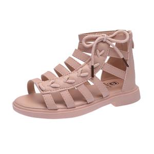 Ragazze sandali della principessa di moda Chic bambini sandali romani bambini gladiatore Zipper New Estate 27-37 di alta qualità Nuovo