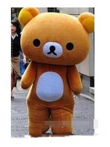 qualidade quente personalizadas Rilakkuma / preguiçosos trajes Atacado de alto mascote urso vestir EMS transporte livre
