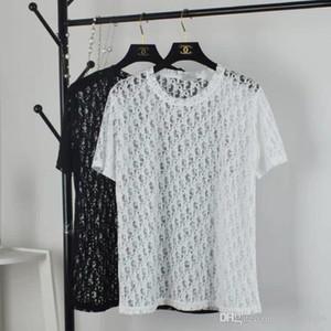 20ss diseño de la marca de lujo Di translúcido atractivo logotipos camiseta transpirable Hombres Mujeres Moda de Calle Sudaderas aire libre camiseta