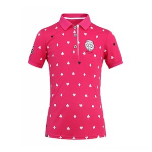 PGM Paddling Wassersport Mädchen Golf-T-Shirt Sommer-Kurzschluss-Hülsen-Druck-Hemd Mädchen Breath Antisweat Tops schnelltrockn Sport Wear AA51875