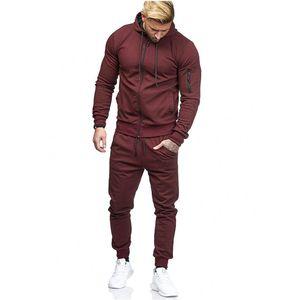 Designer der modernen Männer Sportanzug Arm Reißverschlussdekoration Fitness lässig wearHigh Qualität freies Verschiffen