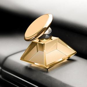 Роскошные ювелирные изделия Кристалл Автомобильный держатель Маунт PPMA магнит Магнитная 360 градусов вращения сотовый телефон мобильный держатель универсальный для телефона GPS MQ50