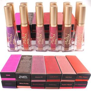 Zu verschmolzener flüssiger Lippenstift 12 Farben Gesicht Lipgloss LIQUIFIED Matter Lippenstift Gesicht Make-up Geschmolzener Lipgloss Lange Abnutzung