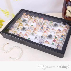 rings jewelry tray for 100 rings display accept simple convenient wholesale hot fashion free of shipping