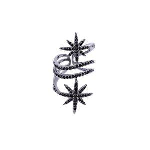 Avrupa Amerika sekiz köşeli yıldız halkası pirinç kelime yıldızı açık parmağı yüzük yüksek kaliteli zarif halka moda kişiliğe abartılı
