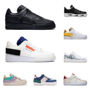 2020 uomini donne scarpe 1 Tipo GS ombra Para-rumore nero vertice Bianco Mystic Navy pallido aria d'Avorio da tennis del Mens di sport di moda trainer running
