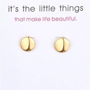 Boucles d'oreilles en alliage d'or Beans exquis Or Couleurs Argent Stud Petite breloque carte de boucles d'oreilles femmes Bijoux Cadeaux pour les filles