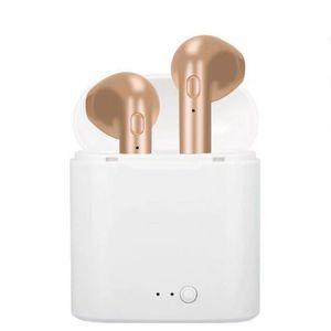 Heißer Verkauf In-ohr I7 I7S TWS Twins Bluetooth Ohrhörer Mini Drahtlose Kopfhörer Headset mit Mic Stereo Kopfhörer für Iphone mit Ladegerät Box