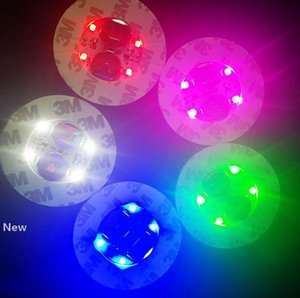LED Cup Pad Mat Bar Party Decor Drink Coaster Luminous LED Bottle Lights Bottle Glorifier LED Sticker Flash Light Up Cup Coaster KKA7920