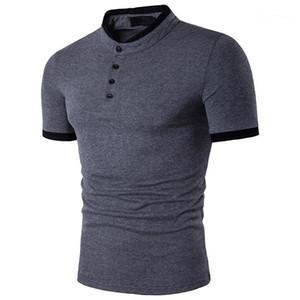 Diseñador de polos adelgazan el collar del soporte de manga corta Polo Sport camiseta Pullover Ropa para hombre masculino 2020 de lujo