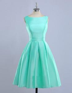 Vestidos De Madrinha Nane Yeşil Gelinlik Modelleri 2020 Yeni Açık Mavi Kısa Nedimeler Elbise Casamento Robe Telli