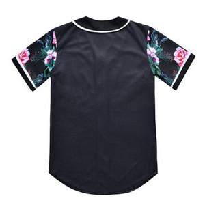 New Style Man Baseball Jersey Camisas Sport Moda Com Tecla 3D boa qualidade 37