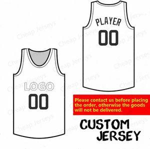baloncesto Jersey personalizada Cualquier equipo de cualquier jugador de cualquier número de alta calidad cosida tamaño de los jerseys S-5XL personalizado