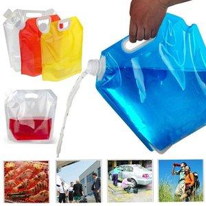 Товары для спорта на открытом воздухе складной портативный мешок воды 5л 10л открытый спортивный мешок для хранения воды ведро для пикника
