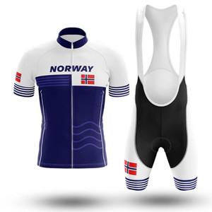 Norvège bleu rétro classique vélo Set VTT Vélo Wear Maillot Ropa Ciclismo vélo Uniforme Maillot cyclisme Set Vêtements