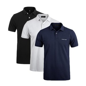 3-Pack uomini caldi Polo Classic Business Casual Solid Maschio Polo manica corta traspirante Polo Fitness