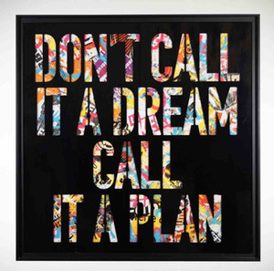 Não chame um sonho pintura Home Decor Artesanato / HD impressão pintura a óleo sobre tela Wall Art Canvas Pictures 200129