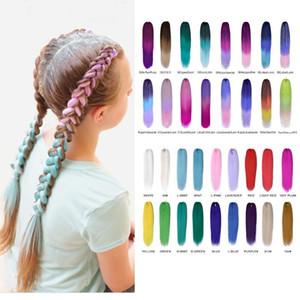 H A Pre Stretched Braiding Hair Yaki Straight Synthetic Hair Extension Crochet Jumbo Braids Kanekalon Hair 24 Inch