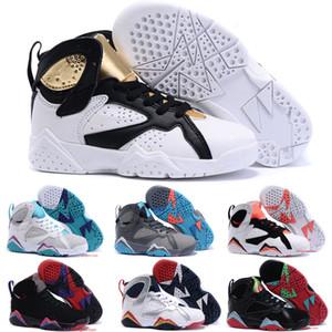 2018 Enfants 7 Sneakers Enfants Garçons Filles Bébé Toddler 7s Chaussures De Basket-ball enfants Athlétique Sneakers Chaussures De Sport Taille 28-35