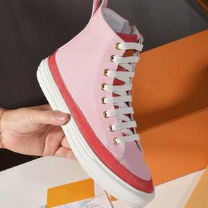 ботинки способ STELLAR SNEAKER ботинок высоких ведущие дизайнеры кроссовки последней мода роскошных женщины обувь размер 35-40 модели MTH02