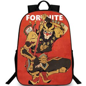 sacchetto di scuola caldo print Immagine zaino Sport Outdoor giorno pacchetto Wukong zaino Lotta gioco zainetto Re della scimmia zainetto