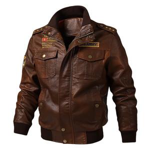 Hot Selling Men's Large Size Leather Coat Autumn Casual Washing PU Leather Jacket Biker Coat Trend Men's
