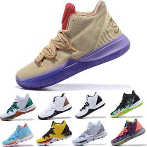 2019 Kyrie 5 UFO Men Ikhet Zoom Turbo Баскетбольная обувь Ikhet Черная магия Черный металлик Золото Oreo Sport Sneaker Размер 7-12