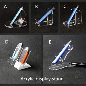 Pluma plana Vape acrílico soportes de exhibición E cig Pods ecig Kit estante de exhibición desechable vape pluma titular de soporte