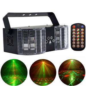 Lumières de la scène LED Laser Disco Light DMX Contrôleur DJ Party Lights Double-miroir 4 trous Light Image Bar Anniversaire Clubs Décoration