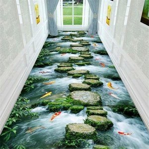 3D Creek Stone Bridge Korridor Teppich Fußmatte Badezimmer Mat Küche Balkon Nacht Bereich Teppich Kinderspielmatte Große Wohnzimmer Teppiche