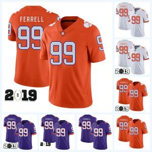 99 Clelin Ferrell Clemson Tigers Футбольный колледж NCAA для мужчин, женщин, молодежи с двойным швом 2019 патч национального чемпионата