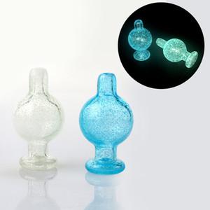25mmOD Nuevo Luminoso Burbuja de vidrio Carb Cap Azul Verde Vidrio Carb Caps Heady Fumar Accesorios Para borde biselado Cuarzo Banger Nails Dab Rigs